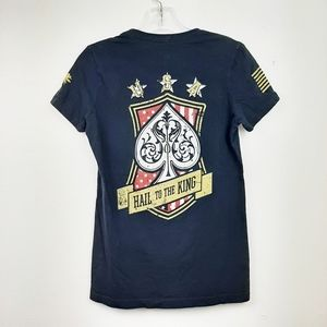 Grunt Style Graphic Tee Spades Skull Hail to King